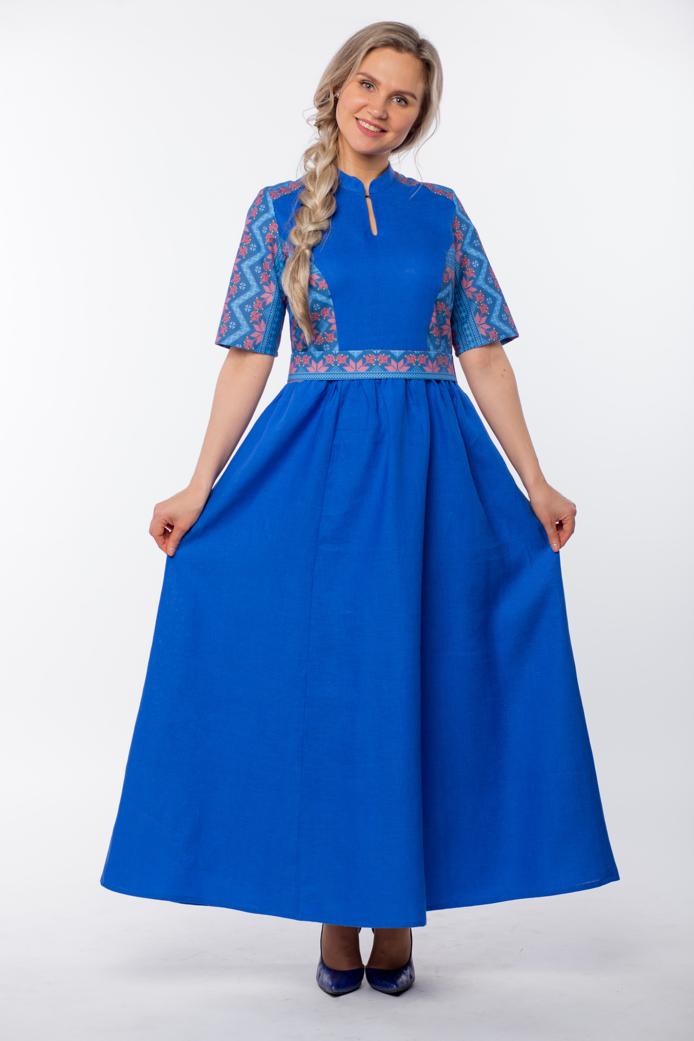 Платье Вольная вода макси юбка