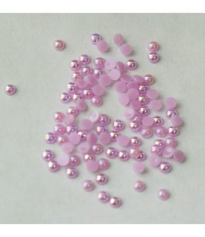 7 стразы круглые розовые 100 шт