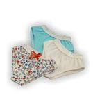 Трусы комплект 3 шт - Бирюзовый. Одежда для кукол, пупсов и мягких игрушек.