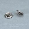 Зажим для броши - значка (цвет - античное серебро) 11х5 мм