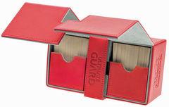 Ultimate Guard - Двойная кожаная красная коробочка с отделением для кубиков на 160 карт