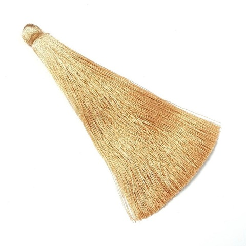 Кисточка 10 см, цвет золотисто-бежевый жемчужный