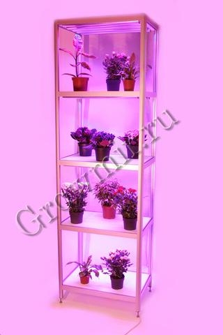 Стеллаж для растений с LED лампами по 30 W