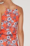 Платье 09375 цветочный принт