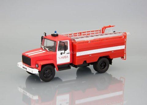 GAZ-3307 AC-30 (3307)-226 firetruck 1:43 DeAgostini Auto Legends USSR Trucks #35