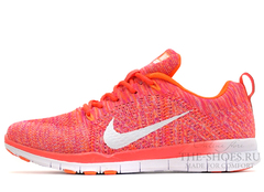 Кроссовки Женские Nike Free Run 5.0 Flyknit Coral White