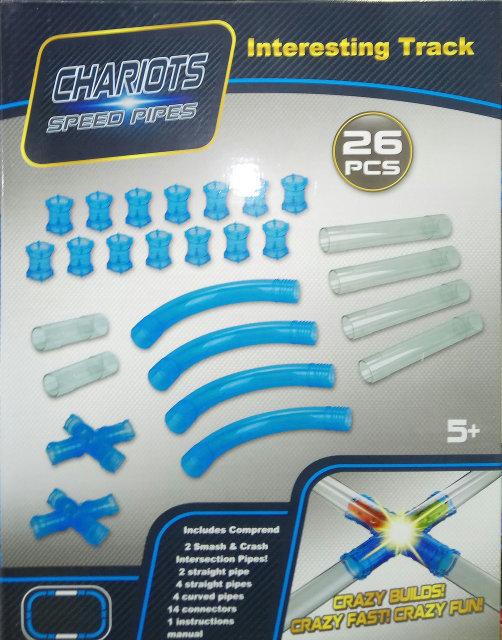 Трубопроводные гонки Chariots Speed Pipes - набор 26 деталей (без машинки)
