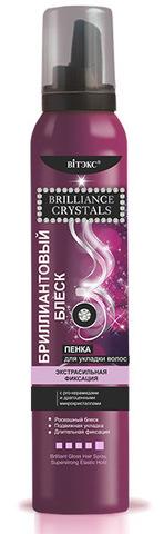 Витэкс Brilliance Crystals Бриллиантовый Блеск Пенка для укладки Сверхсильная фиксация 200мл