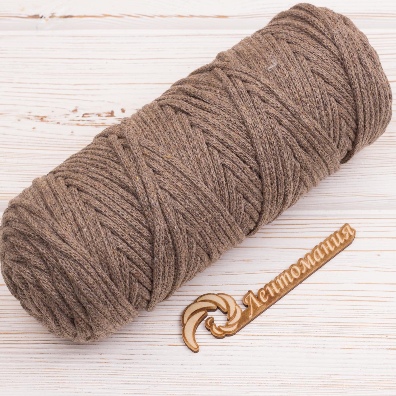 Хлопковый шнур Шнур 4мм Мокко (Серо-коричневый) IMG_4284.JPG