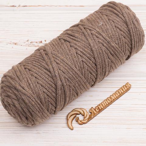 Шнур 4мм Мокко (Серо-коричневый)