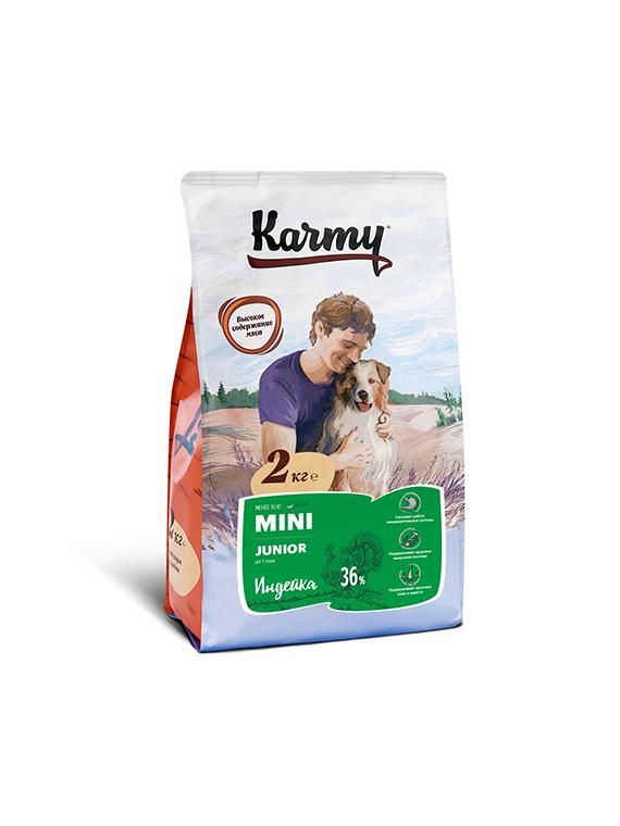 Сухой корм Корм для щенков мелких пород, Karmy Mini Junior, в возрасте до года, с индейкой УТ-00006934.png