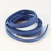 Шнур замшевый (искусств), 6х1,5 мм, цвет - синий, примерно 1 м