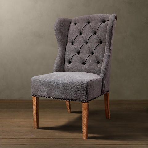 Кресло Roomers светло-серое