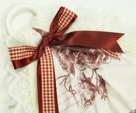 Держатель туалетной бумаги Old Florence Амели бордовый