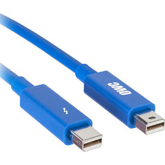 Кабель OWC Thunderbolt optical Cable 3м синий