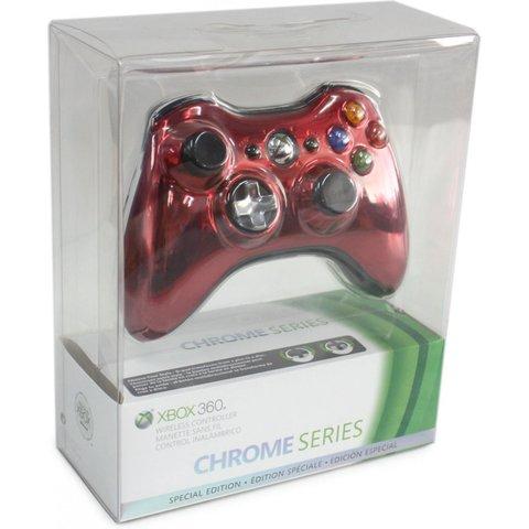 Xbox 360 Проводной контроллер (копия, Chrome Red)