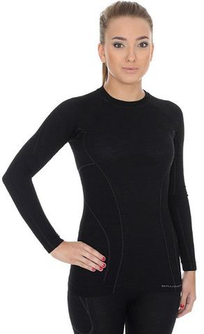 Женская терморубашка Brubeck Active Wool (LS12810) черная