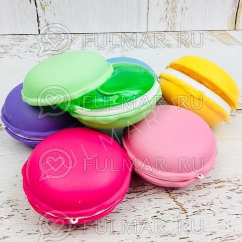 Набор Слаймы лизуны антистресс макаронс Macarons 6 штук