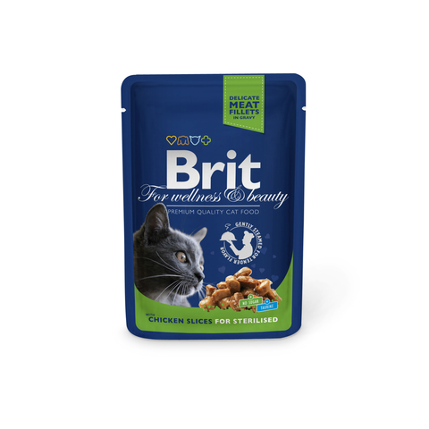Brit premium Chicken Slice for Sterilized cat