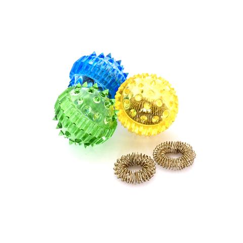 Массажер Су-Джок (шарик с шипами + 2 кольца)