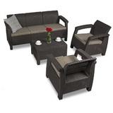 Комплект уличной мебели Keter Corfu Triple Set
