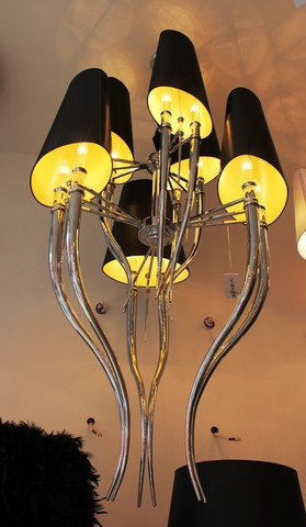 replica Brunilde 6 lamps (black)