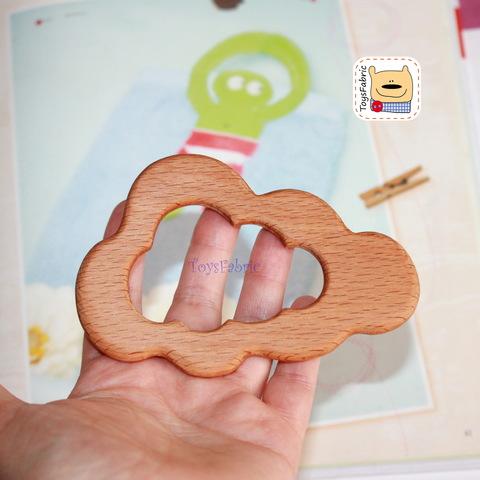 Грызунок деревянный (бук) 11х7,5см Облако ГР18