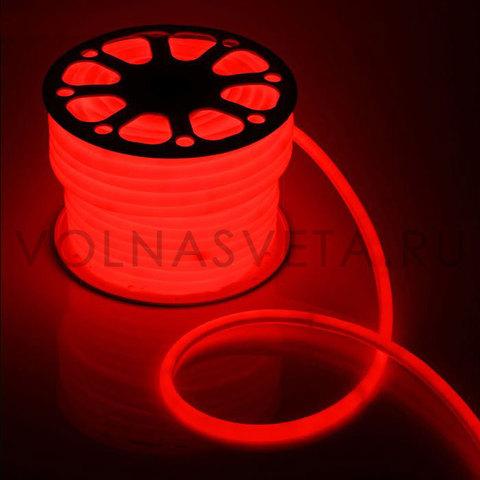 Гибкий неон D16 - круглый, светодиодный | Красный - 50м
