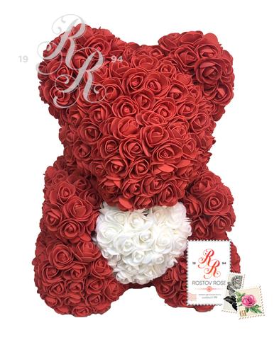 Мишка красный с сердцем