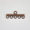 Коннектор (1-5) 30х12 мм (цвет - античная медь)