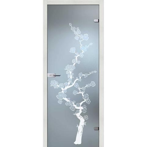 Сакура стекло бесцветное матовое