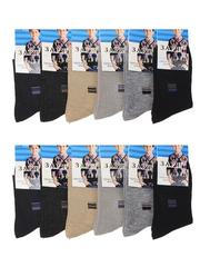 C537-3 носки подростковые (12шт.), цветные
