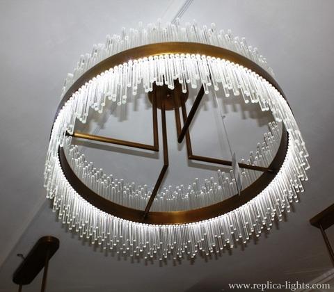 replica  LED 80 cm  ring gold   Pendant ( Baroncelli  style )