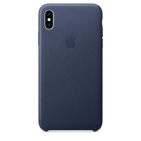 Чехол iPhone XR Leather Case /midnight blue/