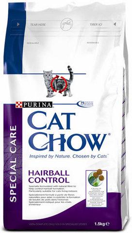 Cat Chow Для выведения шерсти из желудка (special Care Hairball) 400 г