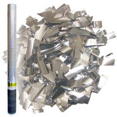 AC 60см Пневмохлопушка в пластиковой тубе Серебряное конфетти