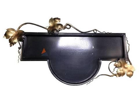 Адресная табличка с лозой, полукруг