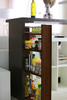 Полка выдвижная, для кухни и ванной комнаты (3-х этажная), венге