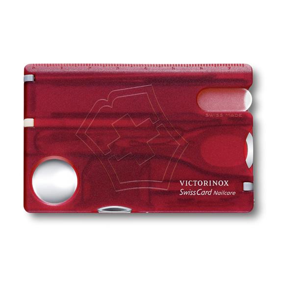 Швейцарская карточка Victorinox SwissCard Nailcare, красная*