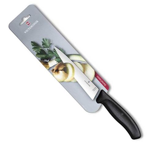 Нож Victorinox разделочный, лезвие 15 см, черный в блистере*