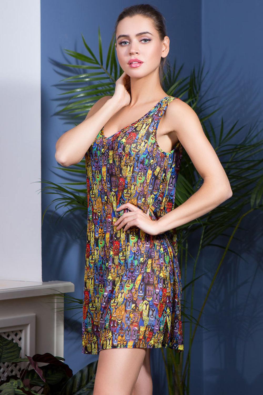 Короткая летняя комбинация Adelin (Пляжные  платья и сарафаны)
