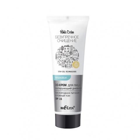 Белита Безупречное очищение White Detox DD-крем для лица матирующий дневной SPF 15 30мл