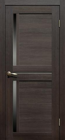 Дверь La Stella 222, стекло матовое, цвет дуб мокко, остекленная
