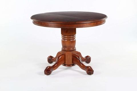 Стол обеденный 4872 SWC круглый раскладной деревянный темный орех