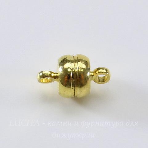 """Замок из 2х частей магнитный """"Рондель"""" 12х7 мм (цвет - золото)"""