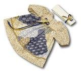 Платье печворк - Бежевый / бежевый. Одежда для кукол, пупсов и мягких игрушек.