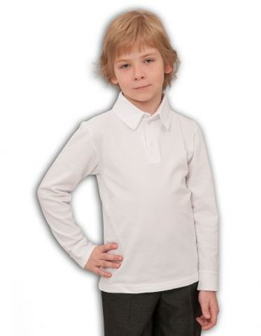 Basia Джемпер-поло для мальчика Н127 белый