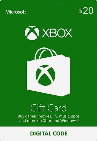Карта оплаты Xbox Live USA 20$ (цифровая версия)