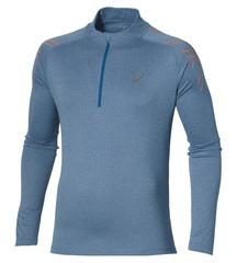 Мужская беговая рубашка Asics Stripe Zip Top 134102 8151 с принтом