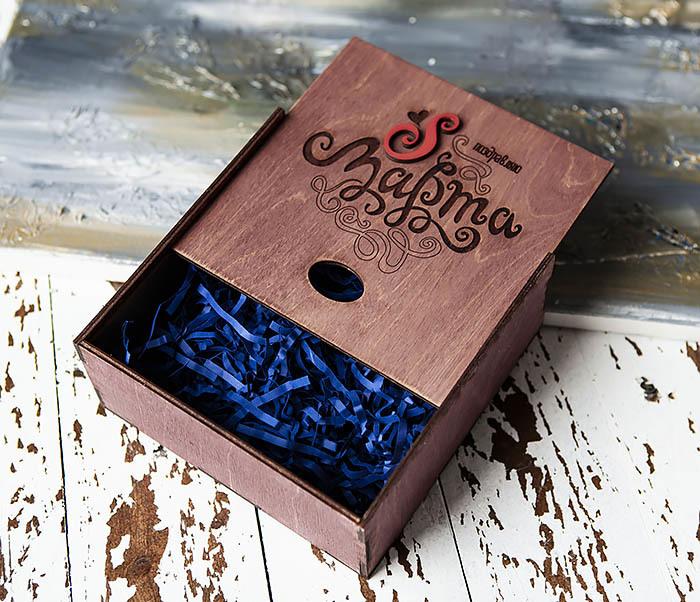 BOX223-3 Фиолетовая коробка к Международному Женскому Дню (17*17*7 см) фото 04